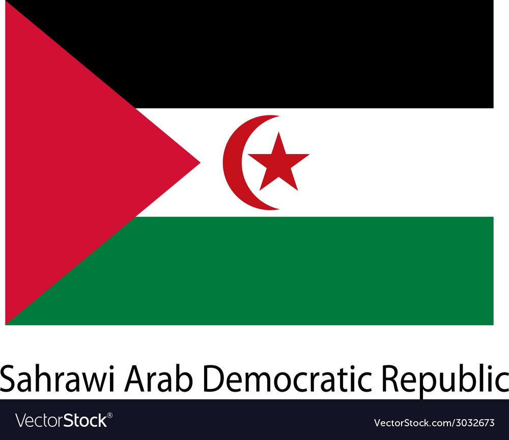 Flag of the country sahrawi arab democratic vector | Price: 1 Credit (USD $1)