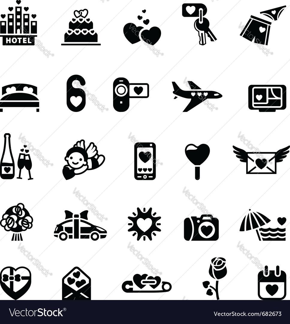 Love icon set vector   Price: 1 Credit (USD $1)