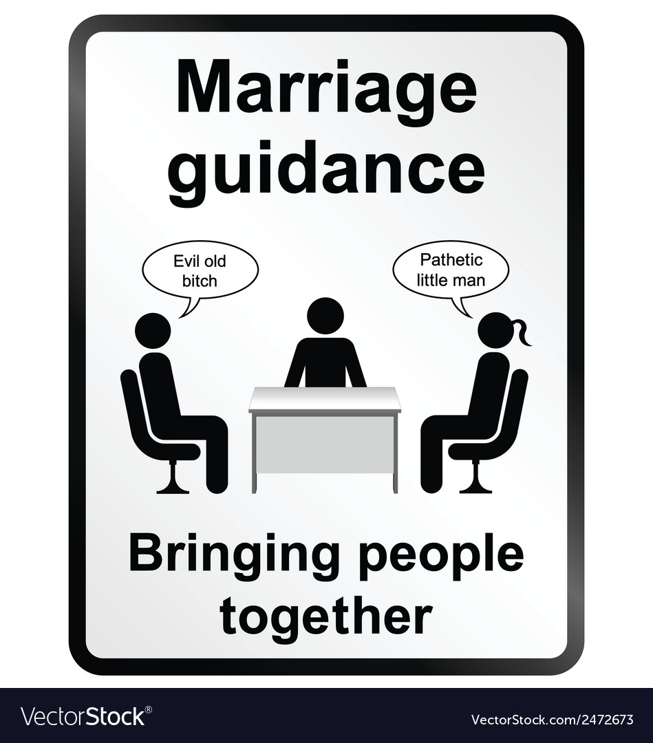 Marriage guidance information sign vector | Price: 1 Credit (USD $1)