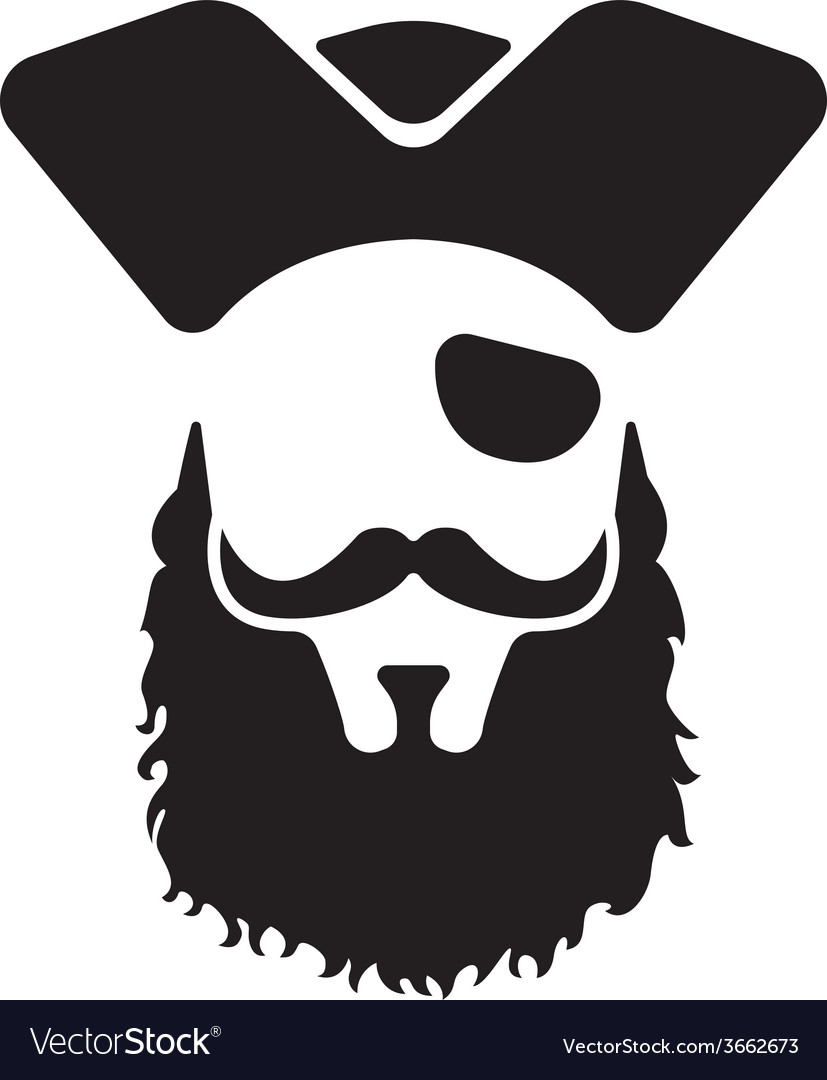 Pirate mascot head vector | Price: 1 Credit (USD $1)