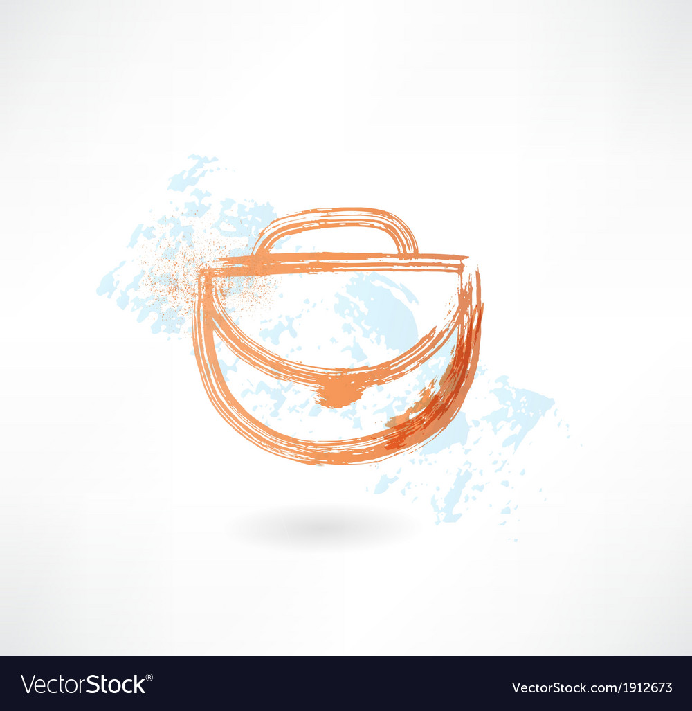Woman bag grunge icon vector | Price: 1 Credit (USD $1)