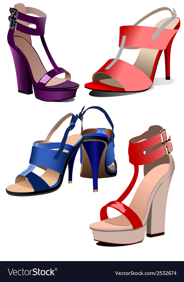 Al 0935 shoes 01 vector | Price: 1 Credit (USD $1)