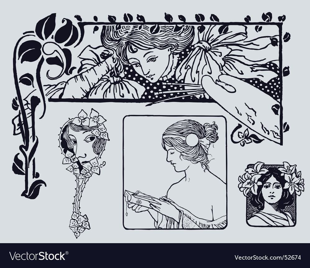 Antique style vector | Price: 1 Credit (USD $1)