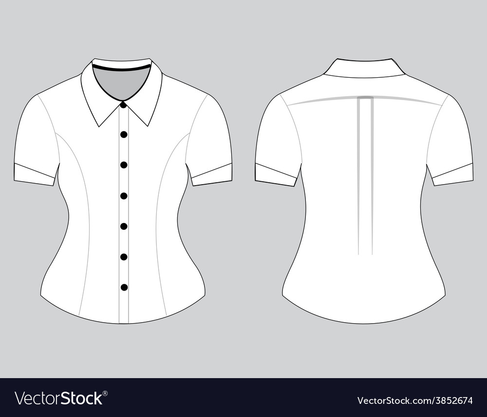 Blank shirt with short sleeves template vector   Price: 1 Credit (USD $1)