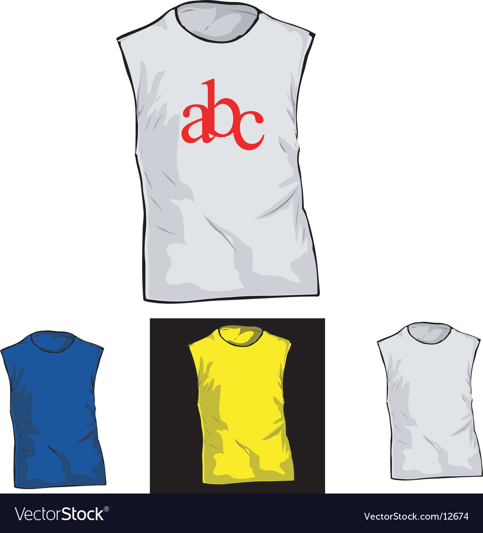 Color and white t-shirt templates vector | Price: 1 Credit (USD $1)