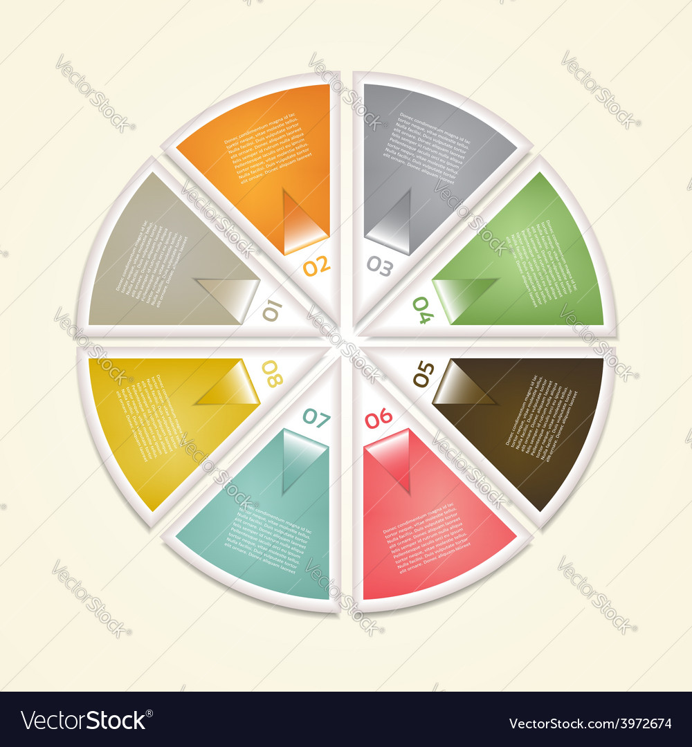 Cyclic diagram with eight steps eps 10 vector   Price: 1 Credit (USD $1)