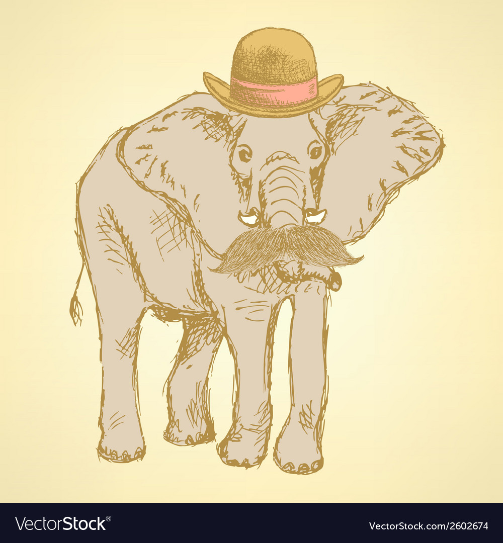 Elephant hat vector | Price: 1 Credit (USD $1)