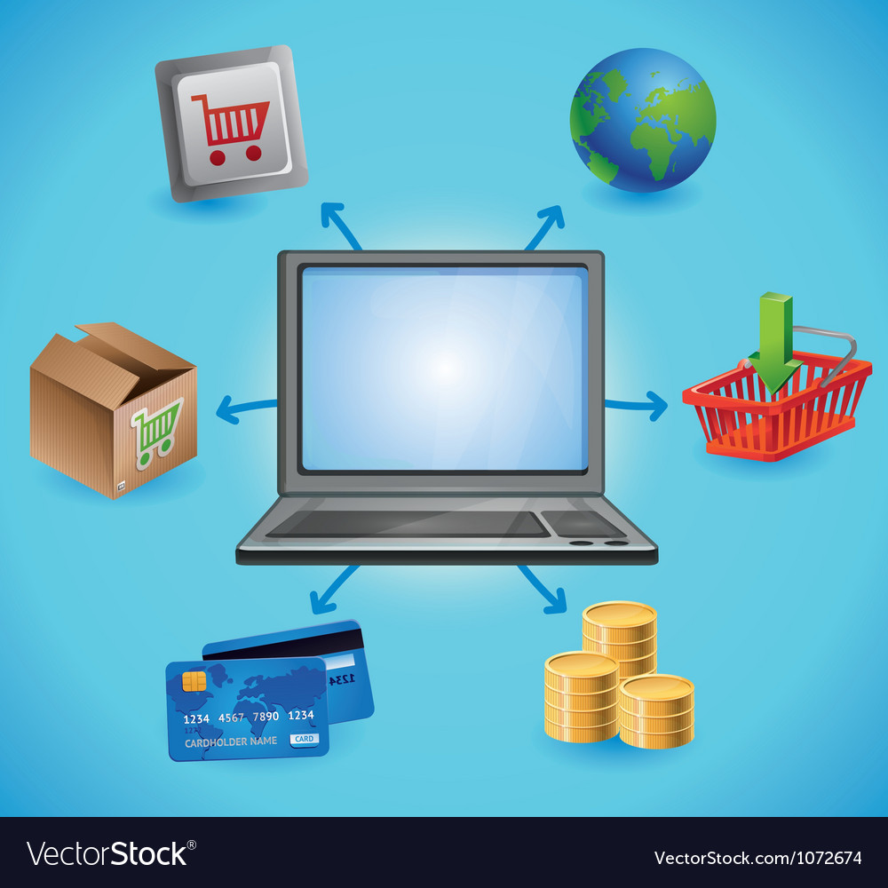 Internet shopping concept vector | Price: 5 Credit (USD $5)