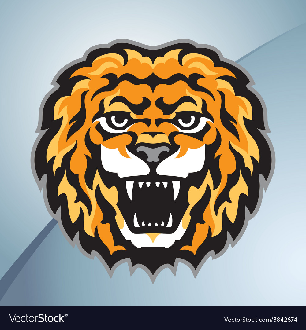 Lion head mascot vector | Price: 3 Credit (USD $3)