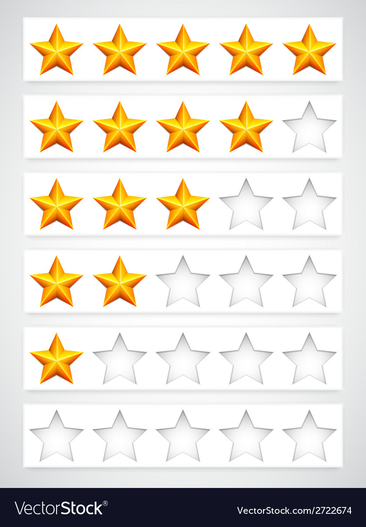 Rating buttons vector | Price: 1 Credit (USD $1)