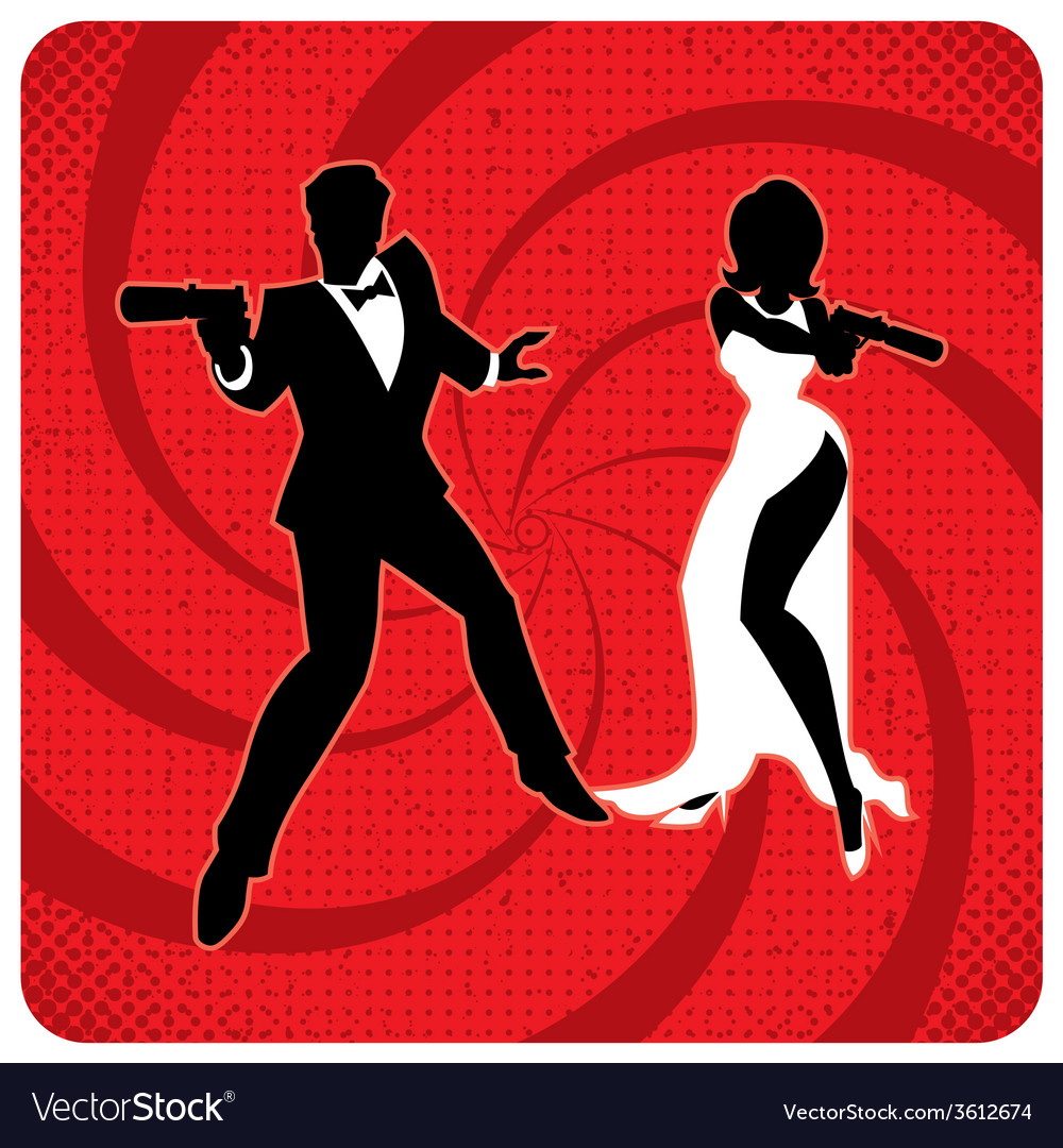 Spy couple 2 vector