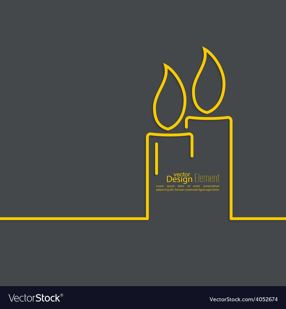 Two burning candles vector | Price: 1 Credit (USD $1)