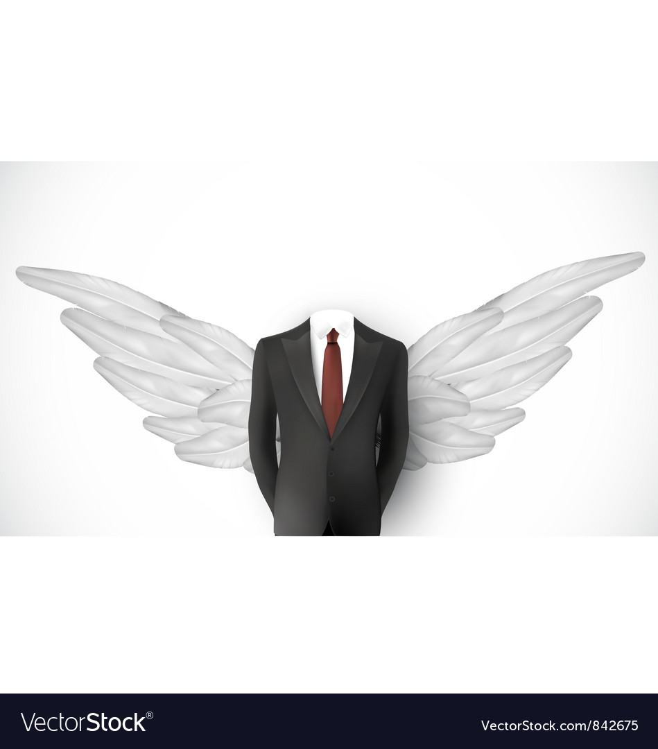 Business suit wings vector | Price: 1 Credit (USD $1)