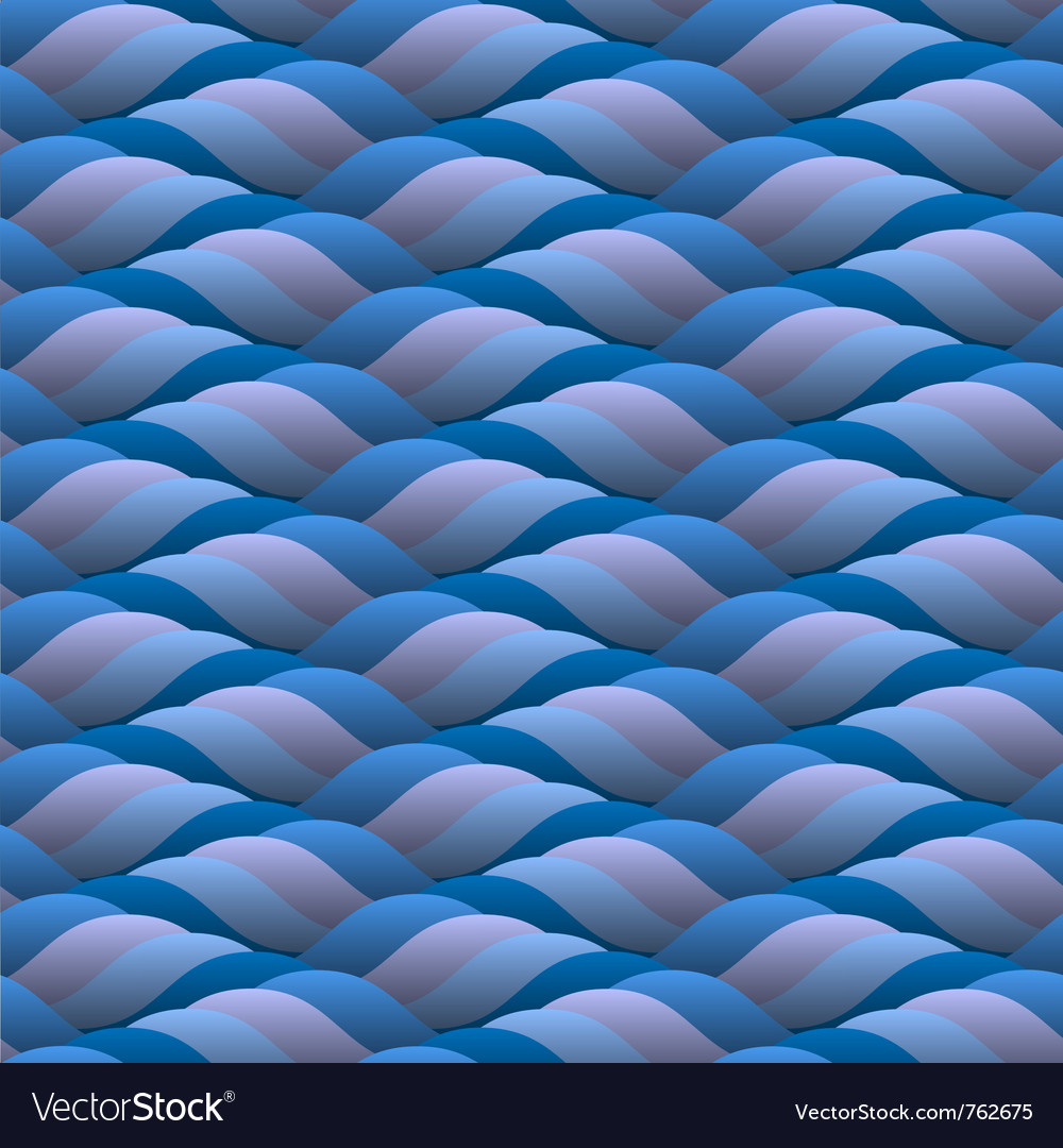 Curled blue waves seamless vector   Price: 1 Credit (USD $1)