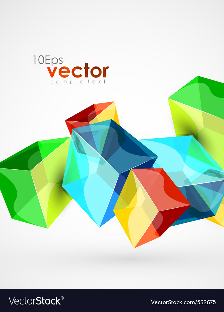 Digital cubes vector | Price: 1 Credit (USD $1)