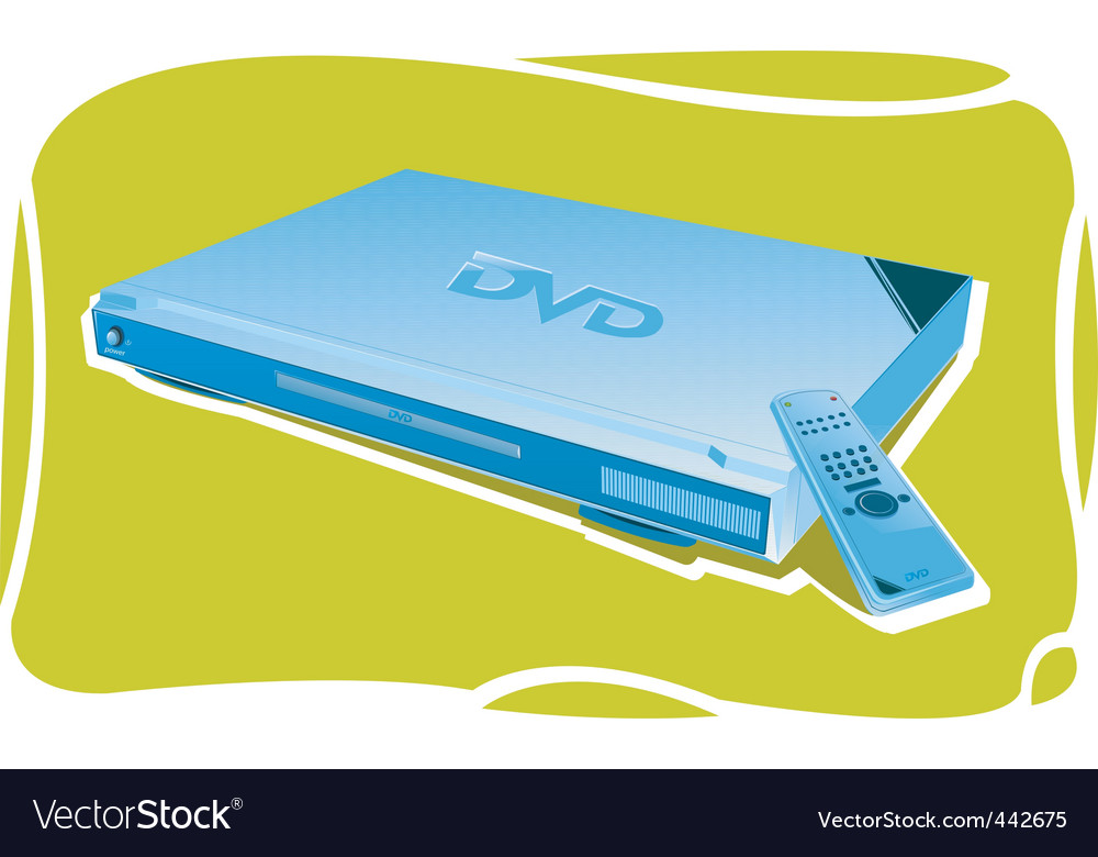 Dvd player vector | Price: 1 Credit (USD $1)