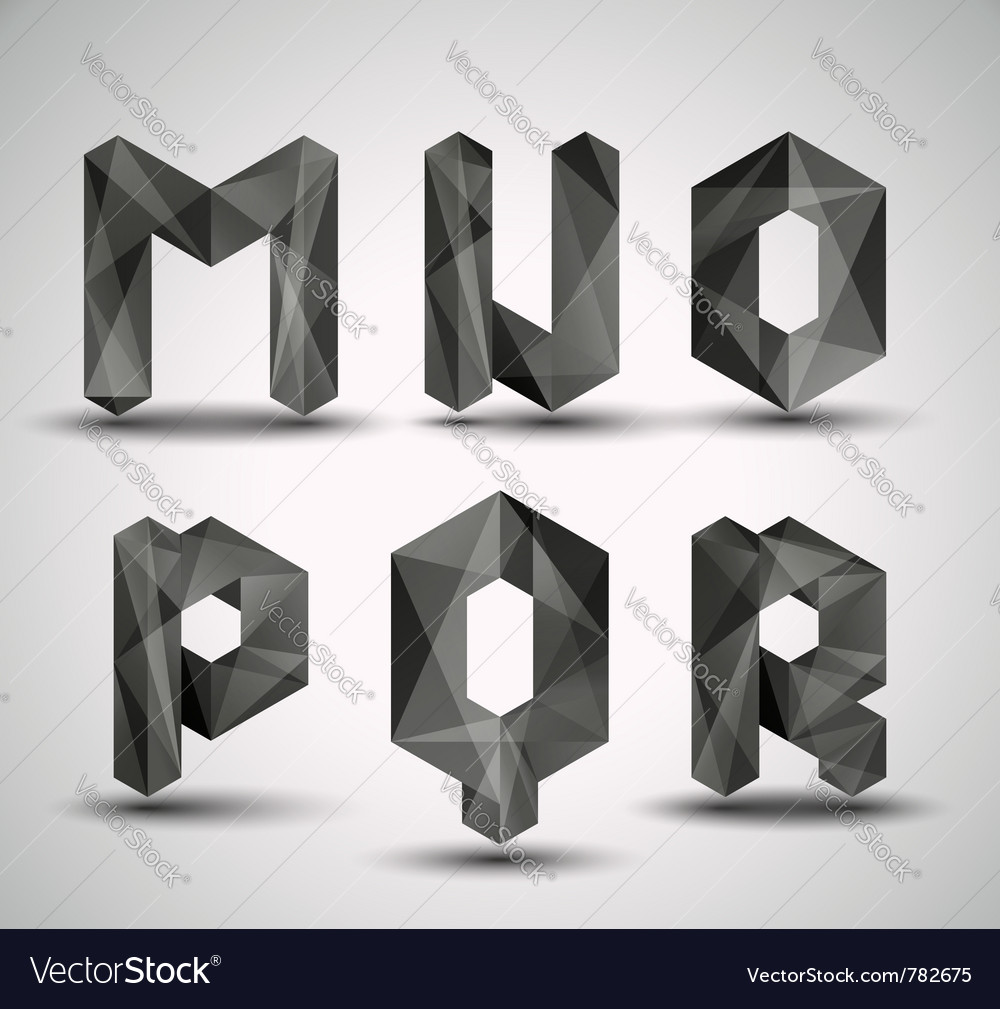 Fractal geometric alphabet vector | Price: 1 Credit (USD $1)