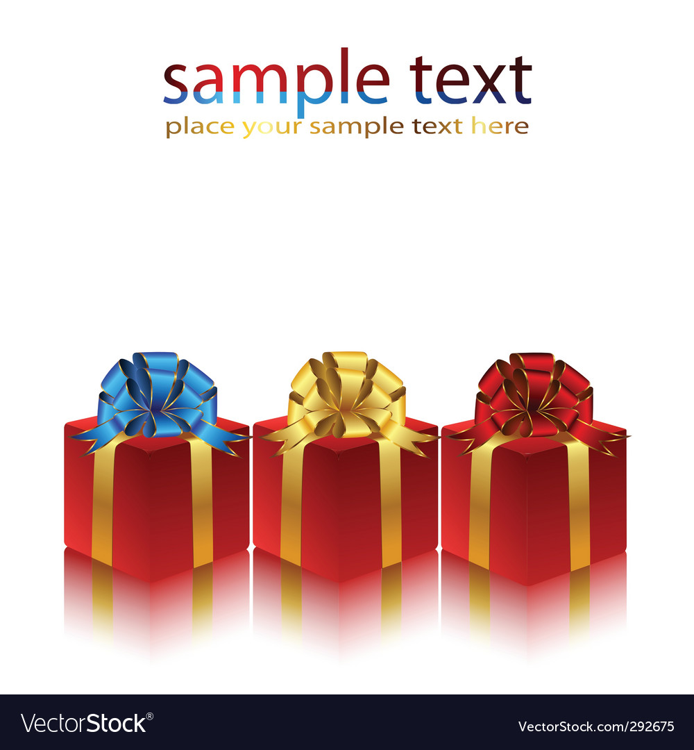 Gifts packaged vector | Price: 1 Credit (USD $1)