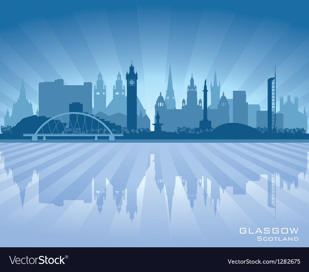 Glasgow scotland skyline city silhouette vector | Price: 1 Credit (USD $1)