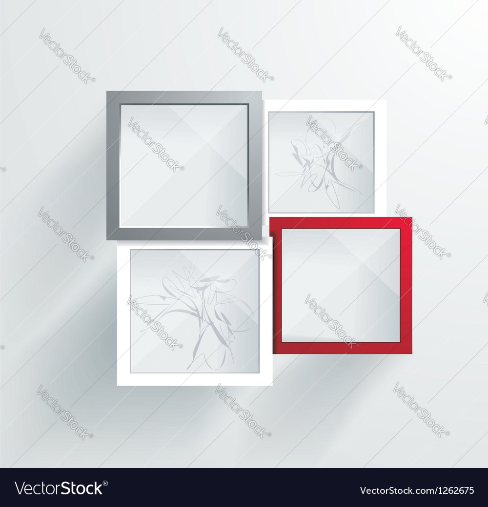 Paper frames abstract 3d geometrical design vector | Price: 1 Credit (USD $1)