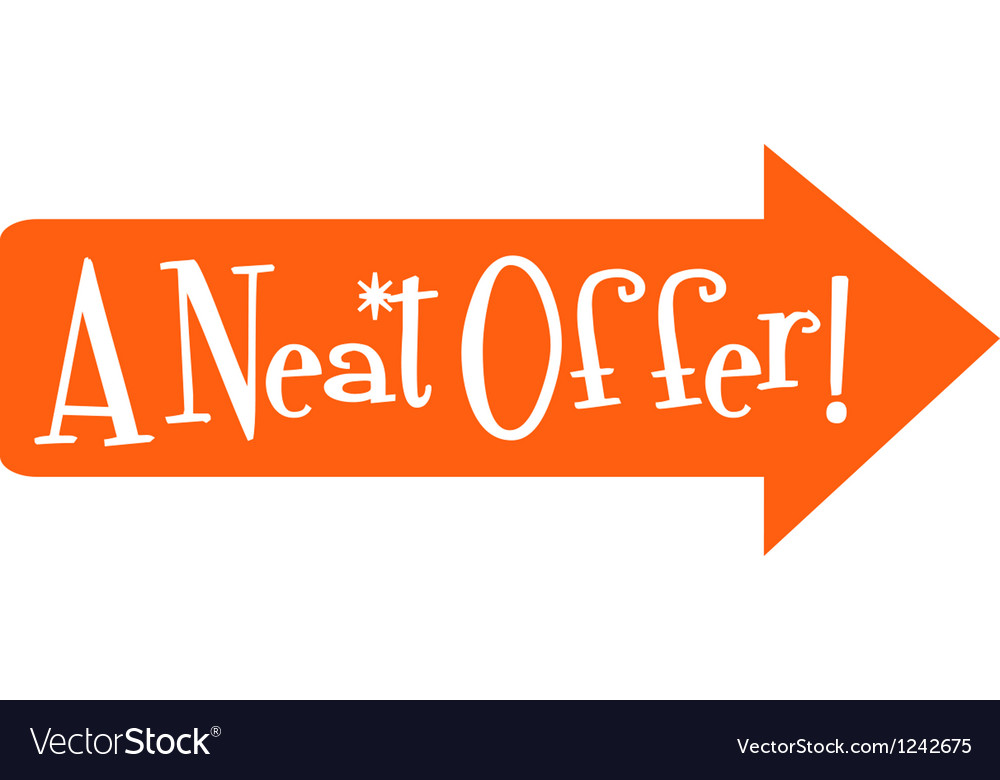 Sale offers vector | Price: 1 Credit (USD $1)