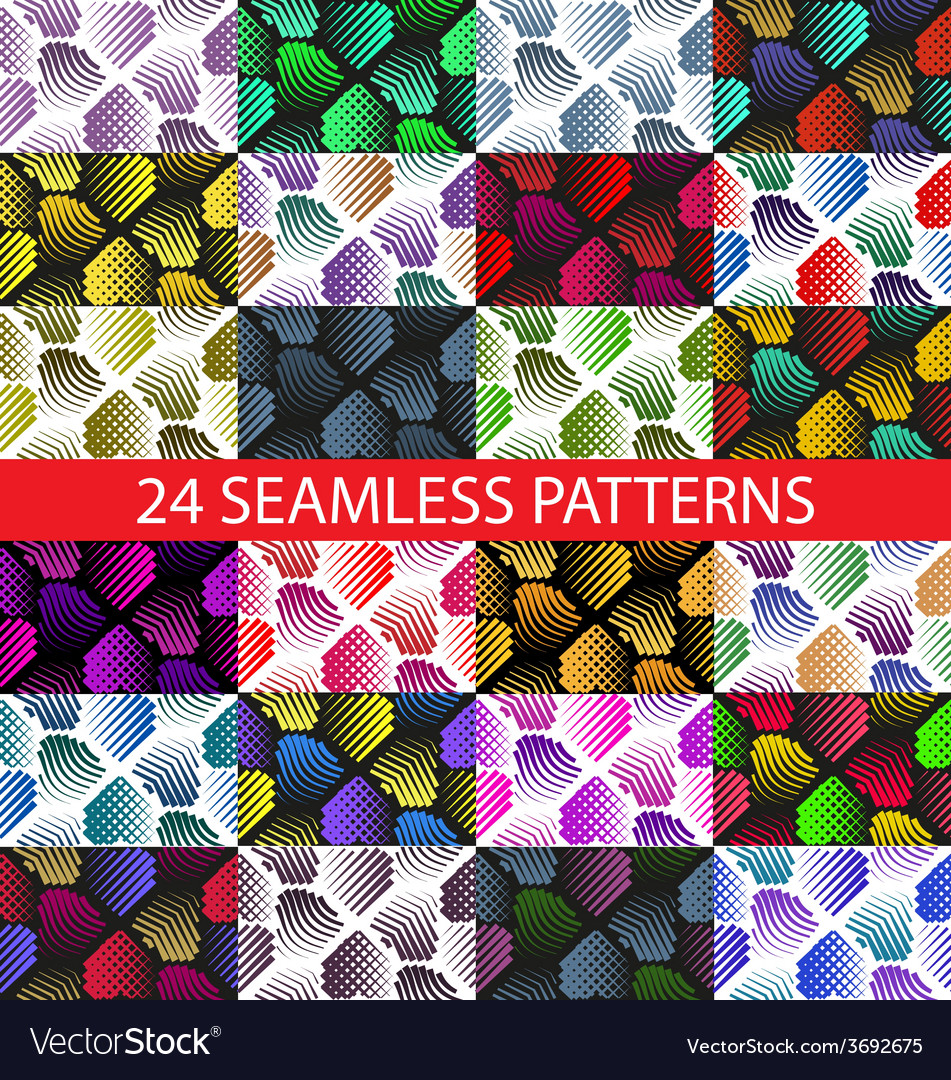 Seamless colorful abstract pattern with stylized v vector   Price: 1 Credit (USD $1)