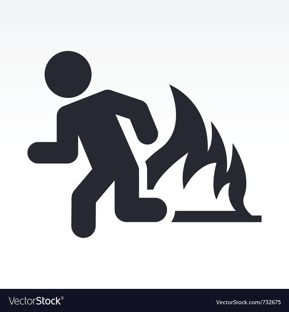 Security exit icon vector | Price: 1 Credit (USD $1)