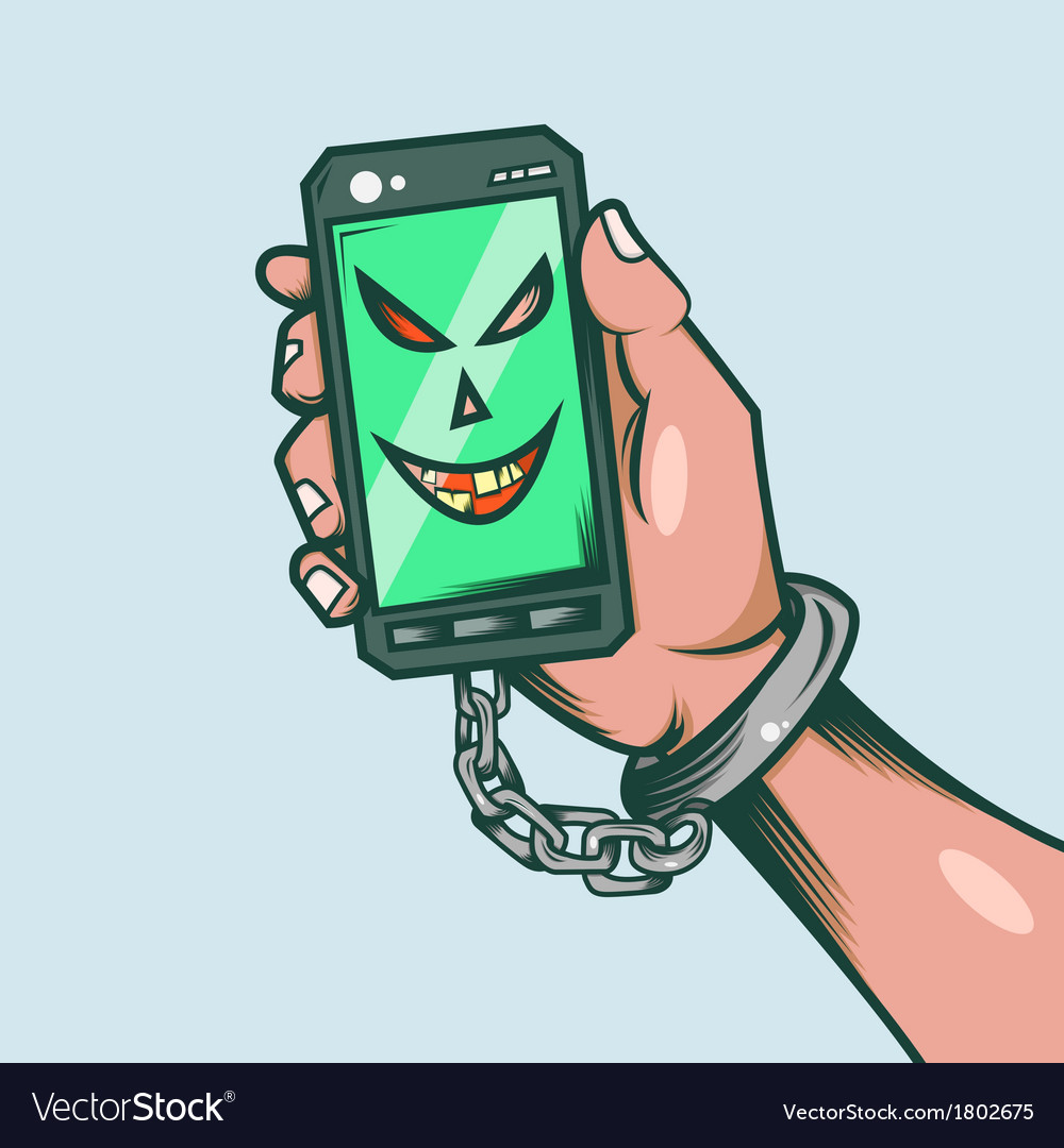 Smart phone slave vector | Price: 1 Credit (USD $1)