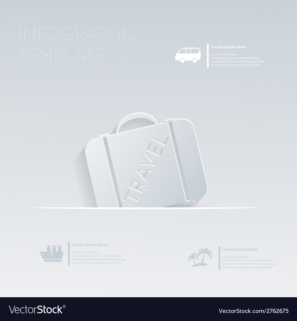 Suitcase luggage travel theme holidays template vector | Price: 1 Credit (USD $1)