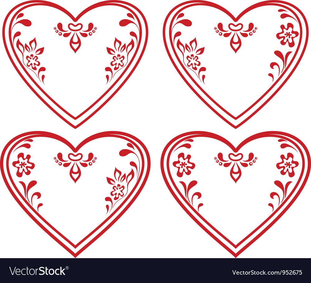 Valentine heart pictogram set vector | Price: 1 Credit (USD $1)