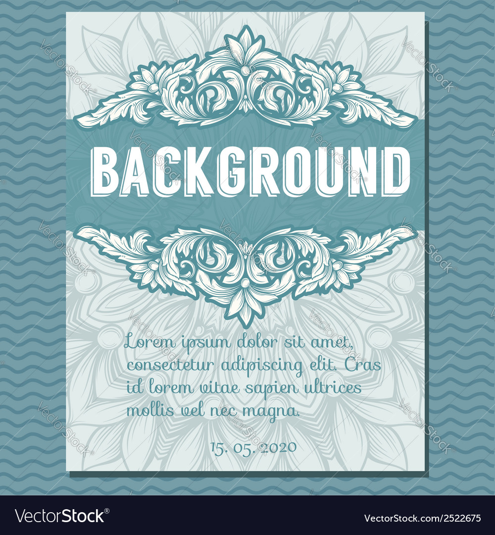 Vintage border frame vector | Price: 1 Credit (USD $1)