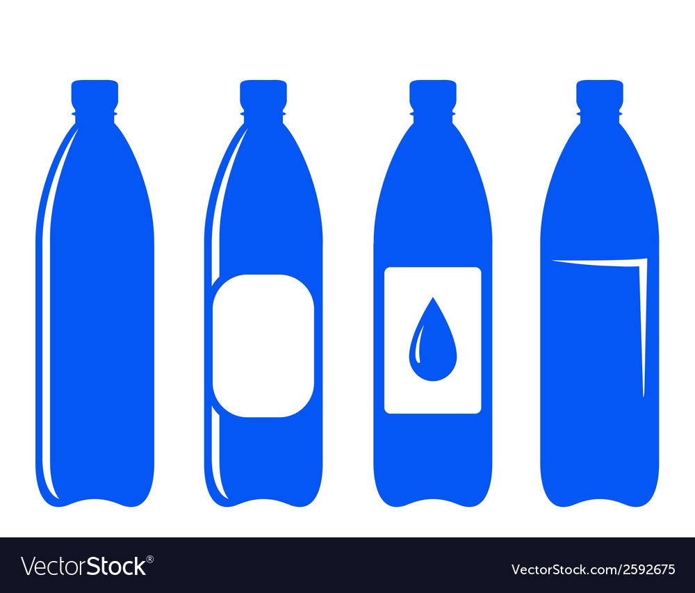 Water bottle icons vector | Price: 1 Credit (USD $1)