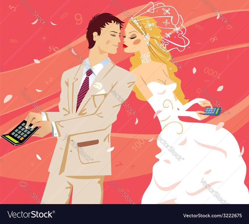 Wedding by calculation vector | Price: 1 Credit (USD $1)