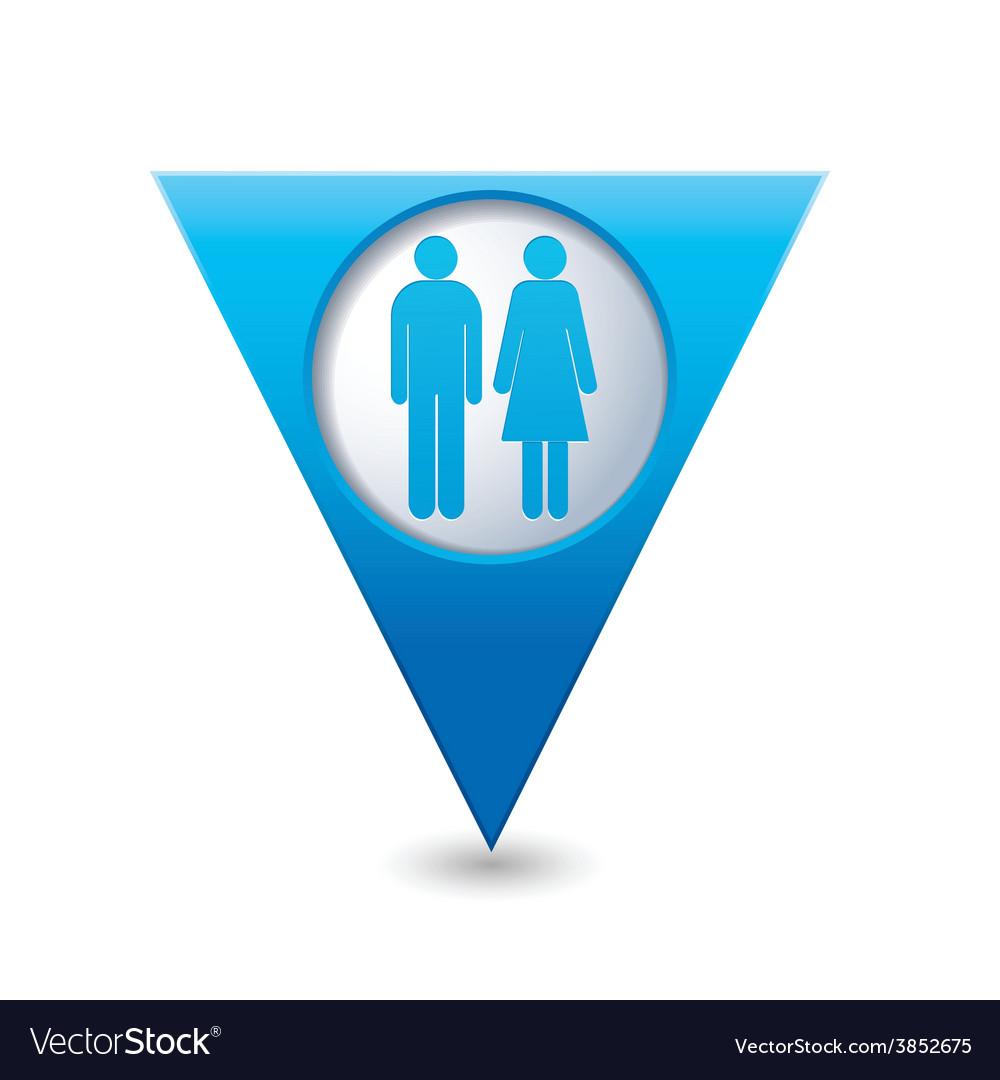 Womenandman blue triangular map pointer vector | Price: 1 Credit (USD $1)