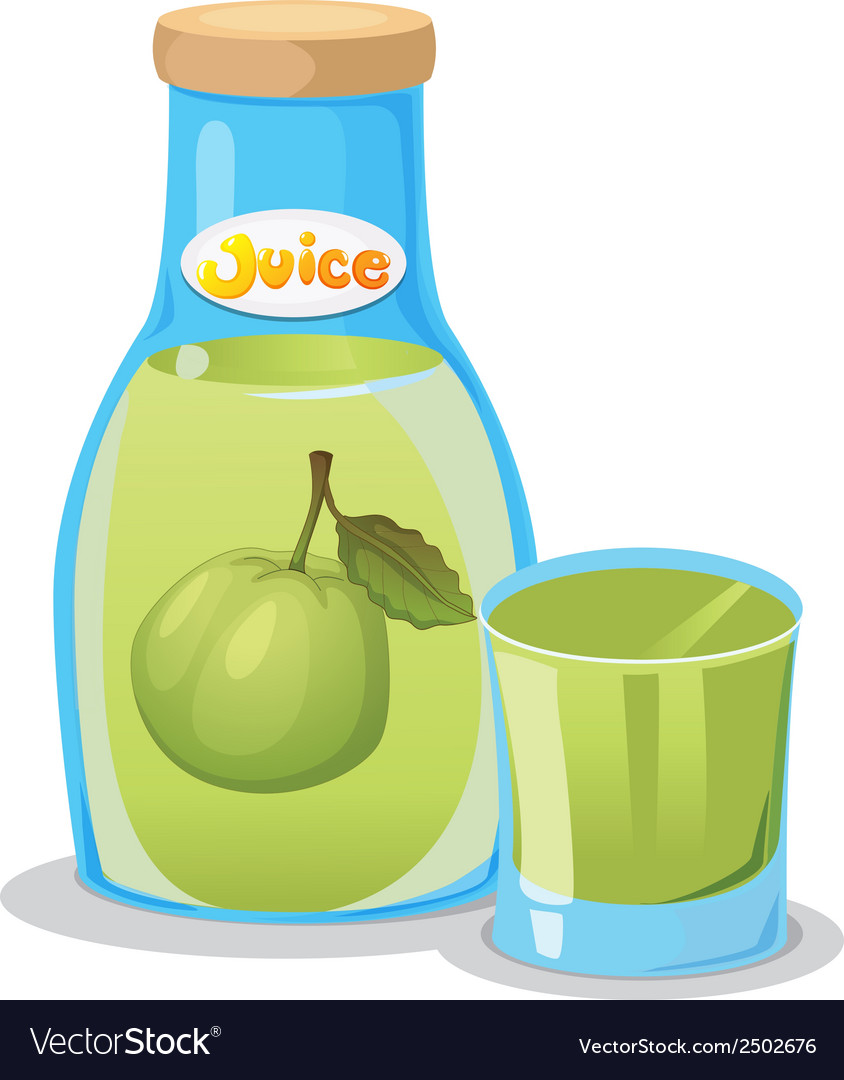 A bottle of guava juice vector | Price: 1 Credit (USD $1)