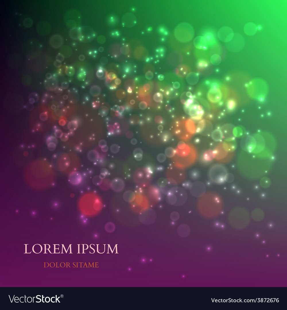 Abstract colorful background with magic particles vector | Price: 1 Credit (USD $1)