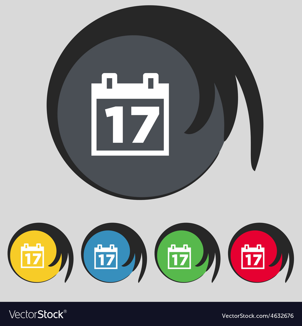 Calendar date or event reminder icon sign symbol vector | Price: 1 Credit (USD $1)
