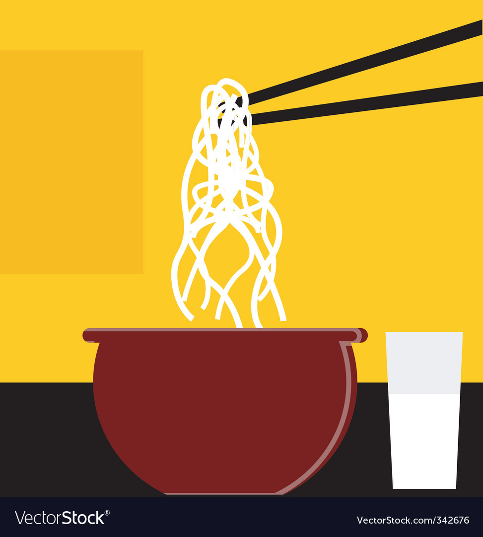 Chopsticks and noodles vector | Price: 1 Credit (USD $1)