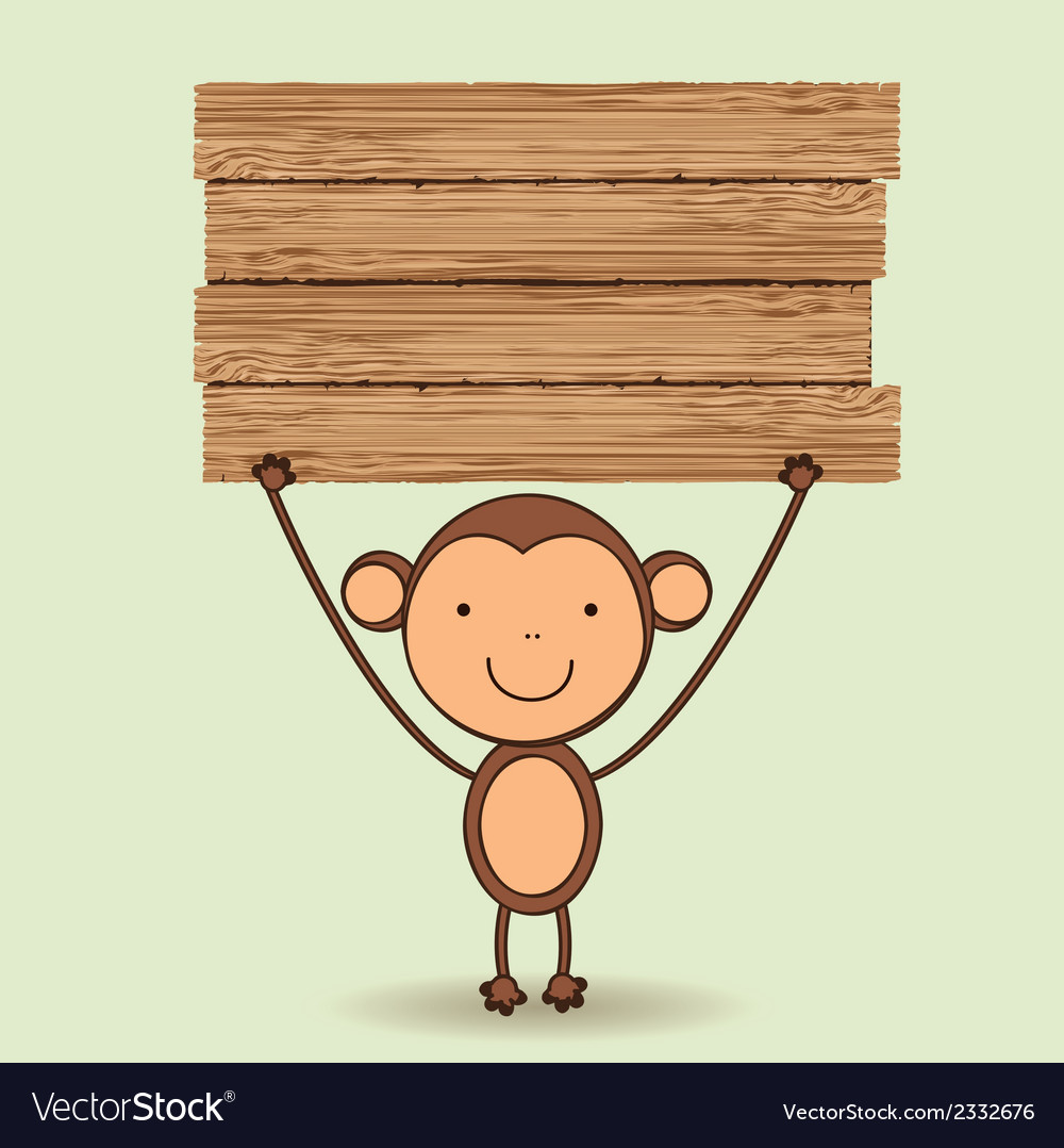 Cute monkey vector | Price: 1 Credit (USD $1)