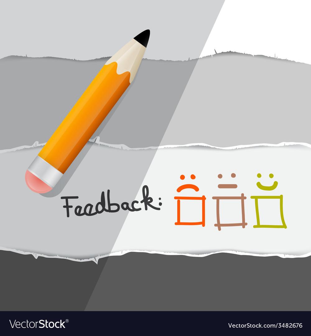 Feedback symbols with pencil vector | Price: 1 Credit (USD $1)