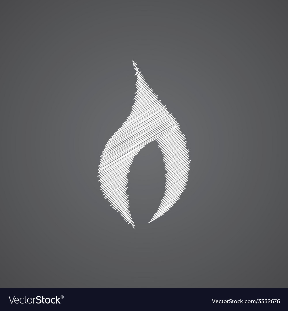 Fire sketch logo doodle icon vector | Price: 1 Credit (USD $1)