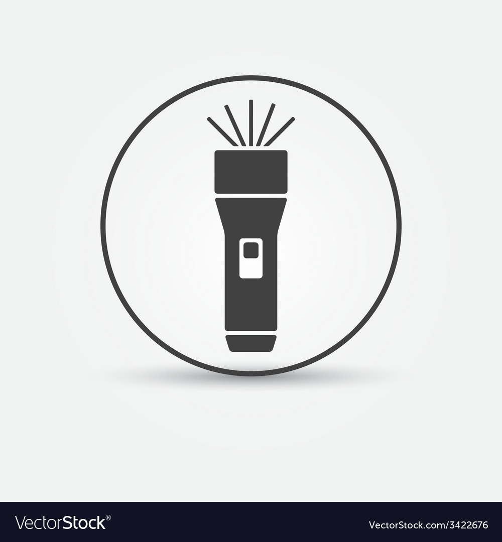 Flashlight icon vector | Price: 1 Credit (USD $1)