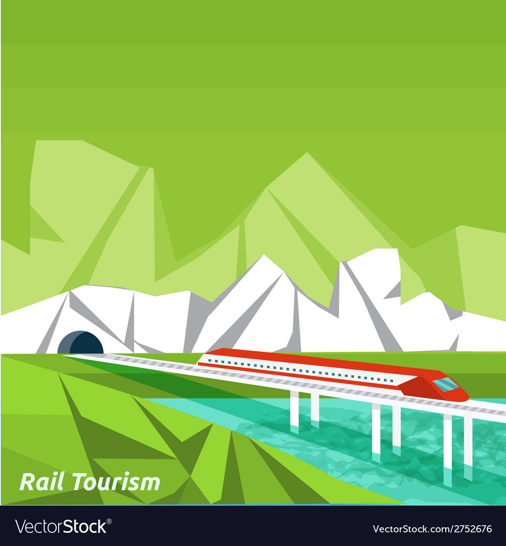 Rail tourism vector | Price: 1 Credit (USD $1)