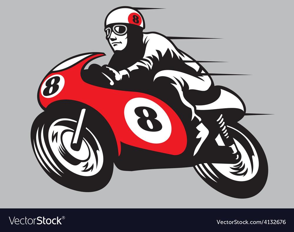Retro racing motorbike vector | Price: 3 Credit (USD $3)