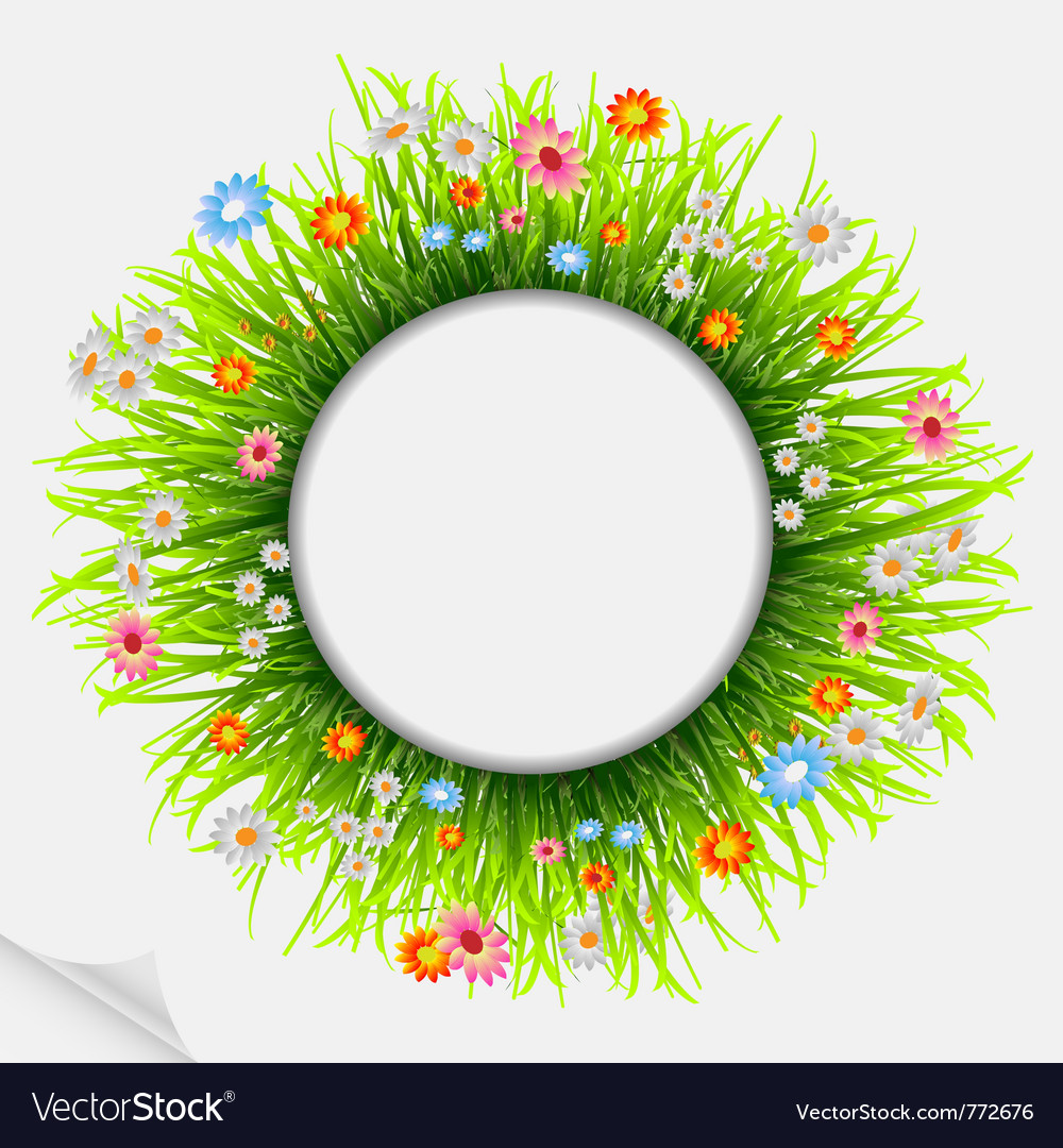 Round natural frame vector | Price: 1 Credit (USD $1)