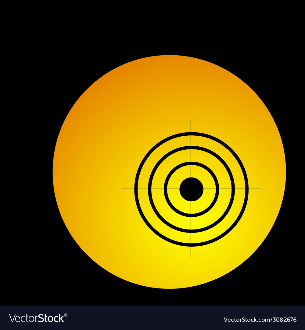 Target in circle vector | Price: 1 Credit (USD $1)