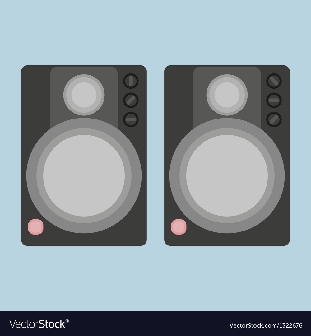 Two audio speakers vector | Price: 1 Credit (USD $1)
