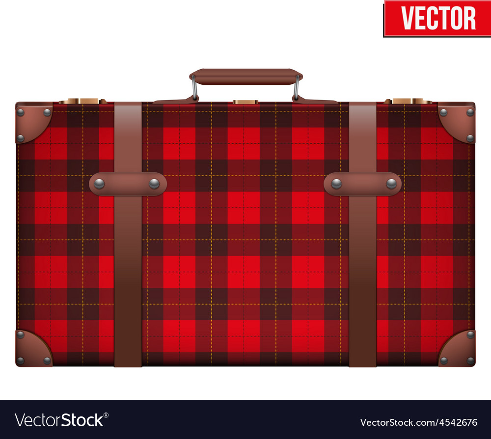 Vintage baggage suitcase for travel vector   Price: 1 Credit (USD $1)