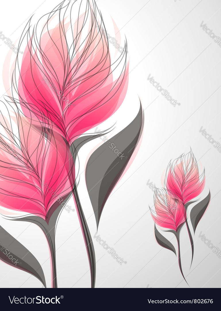 Vriesea - beautiful pink flower vector | Price: 1 Credit (USD $1)