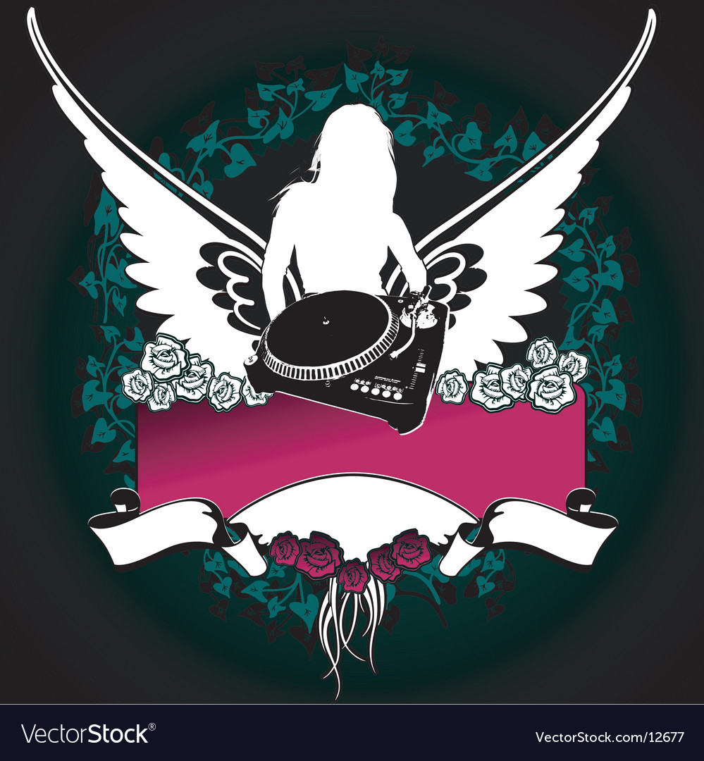 Angel silhouette vector | Price: 3 Credit (USD $3)